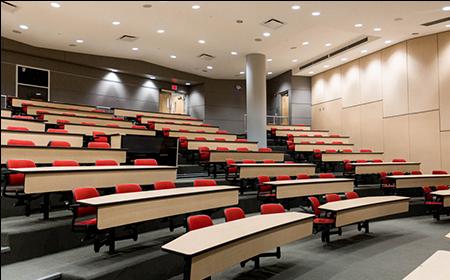 Empty UBC classroom